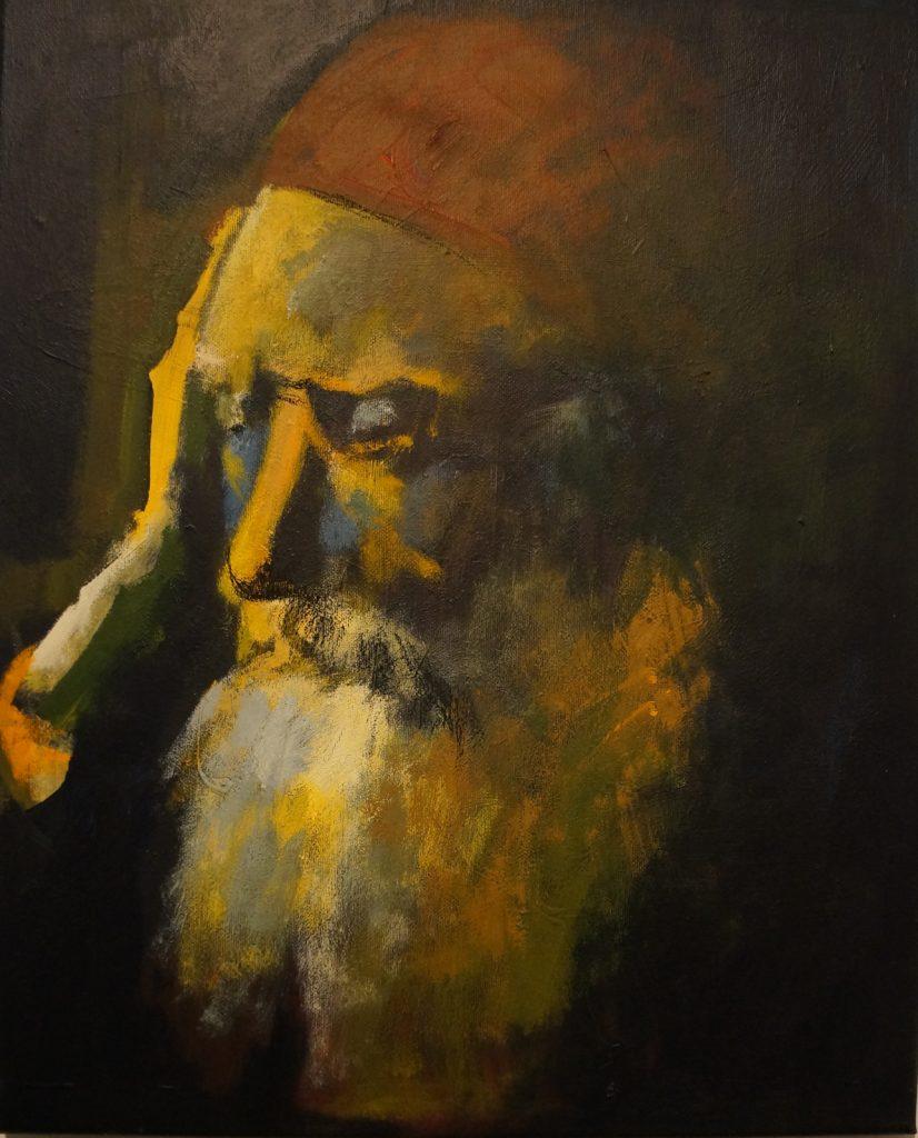 Rabbijn in Gedachten Verzonken