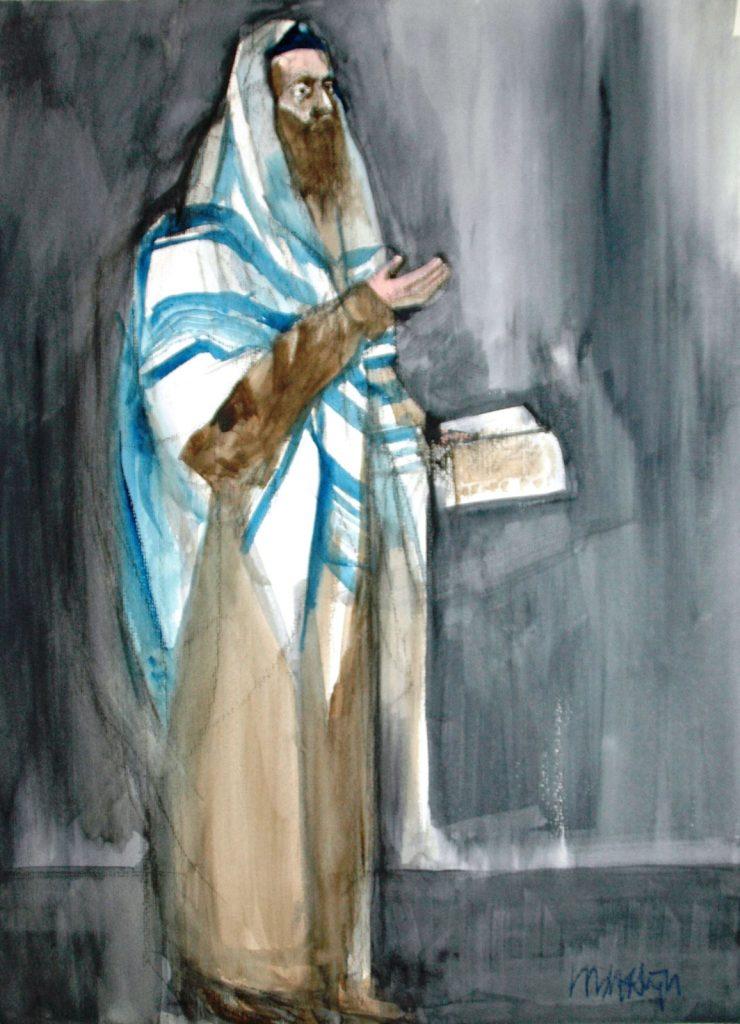 Biddende Rabbijn