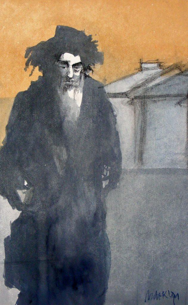 Rabbijn Onderweg II (detail)